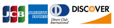JCB AMERICAN EXPRESS Diners Club INTERNATIONAL DISCOVER